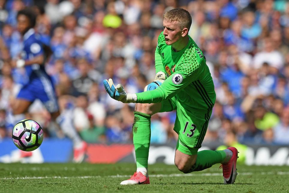 Jordan Pickford, of Everton, playing for Sunderland