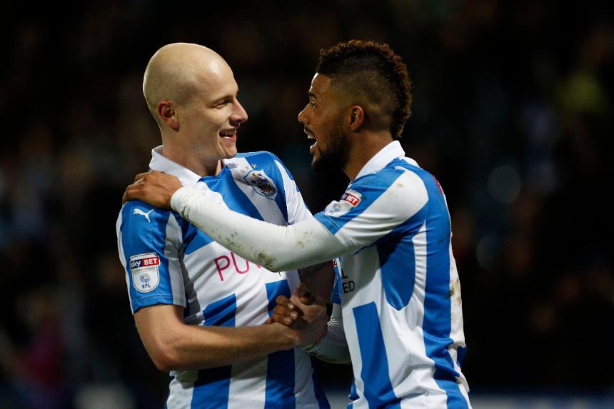 Aaron Mooy, Elias Kachunga, Huddersfield Town