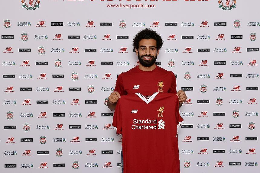 Mohamed Salah signs for Liverpool