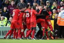 Norwich 4-5 Liverpool, 2015/16