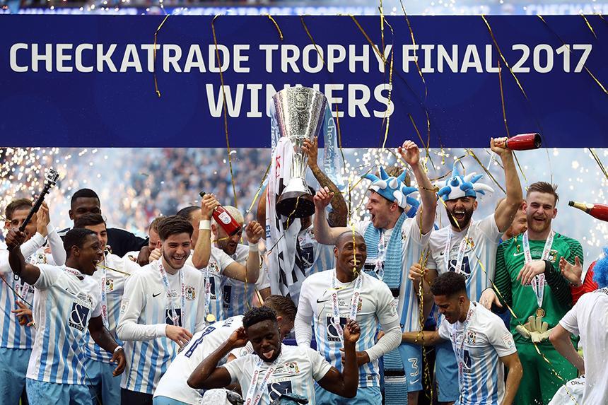 Coventry City win 2016/17 Checkatrade Trophy