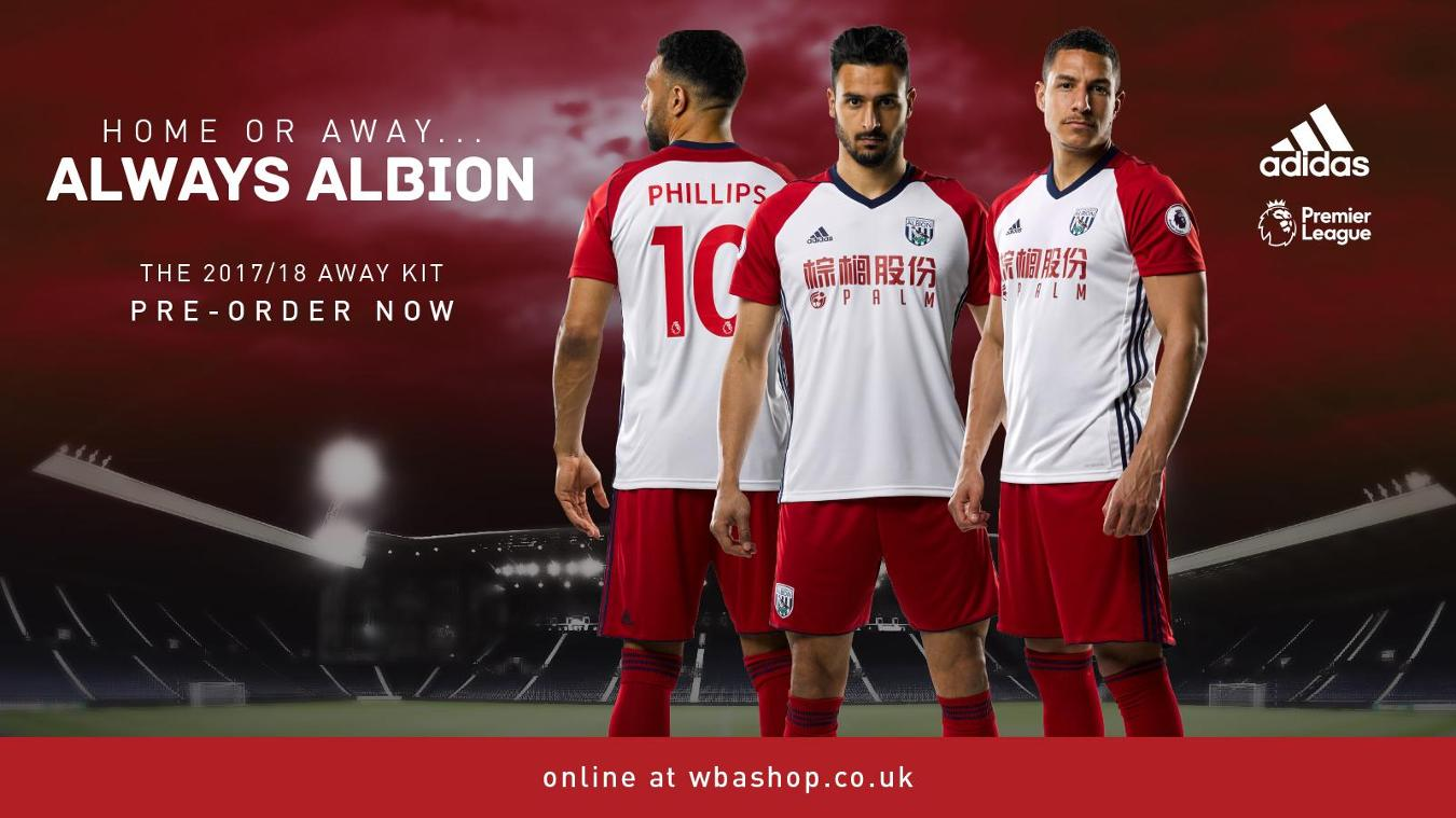 2017/18 Premier League kits: West Brom away