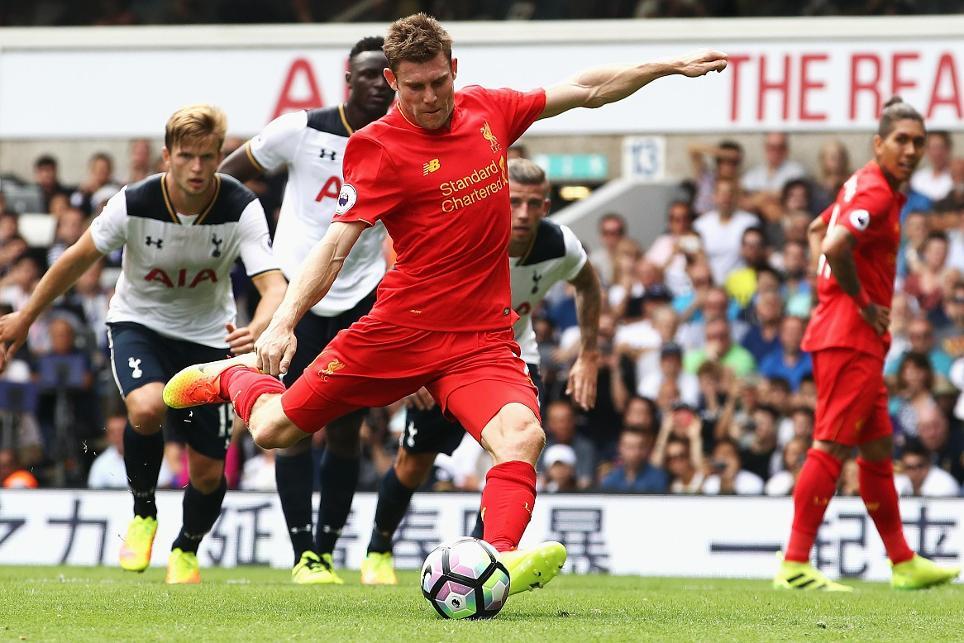 Tottenham Hotspur v Liverpool, James Milner