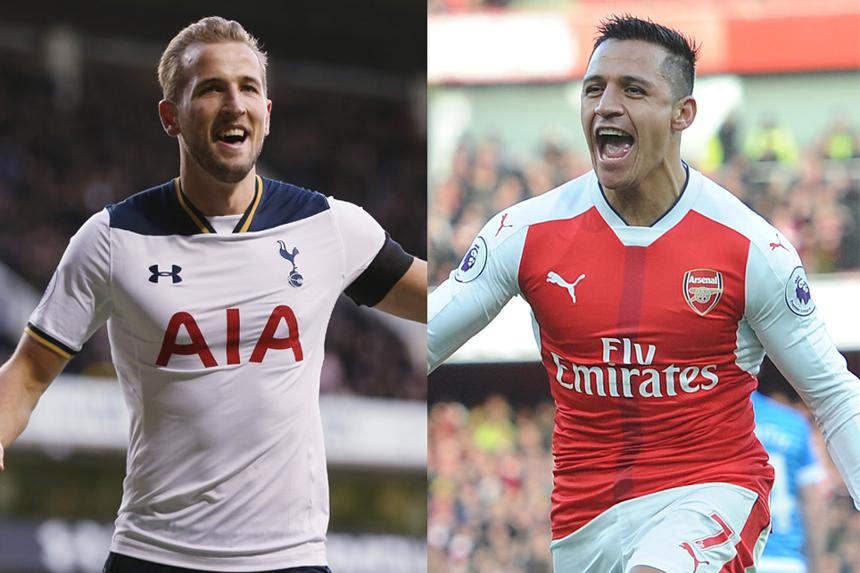 Harry Kane and Alexis Sanchez