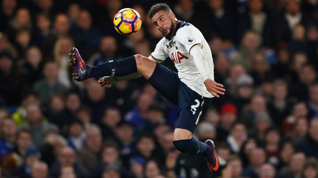 Kyle Walker in action for Tottenham Hotspur