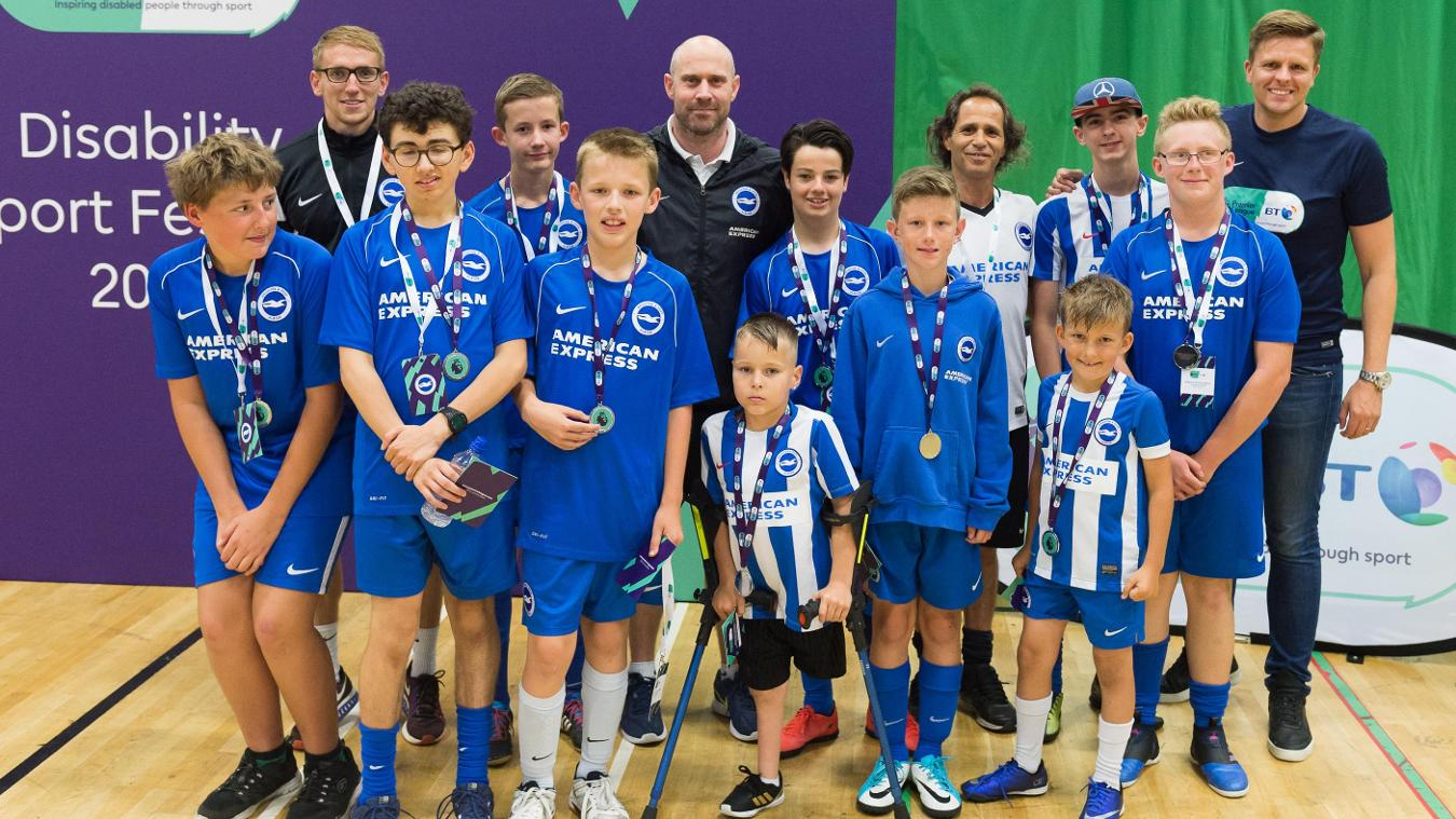 PL/BT Disability Sport programme, Brighton and Hove Albion team