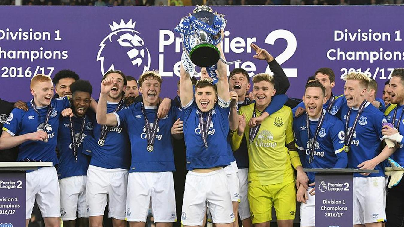 Everton lift 2016/17 PL2 Division 1 trophy