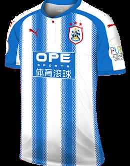 Huddersfield home kit, 2017-18