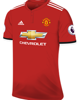 Man Utd home kit, 2017-18