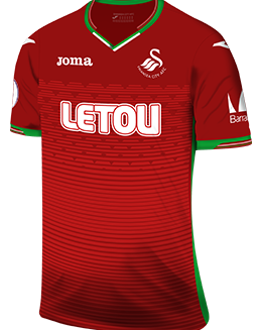 Swansea away kit, 2017-18