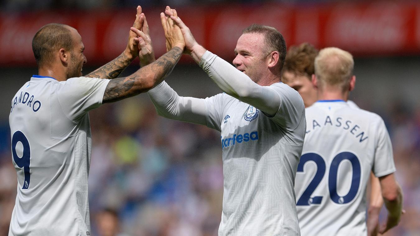 Sandro Ramirez and Wayne Rooney, Everton