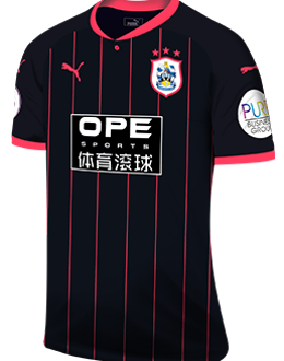 Huddersfield away kit, 2017-18