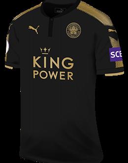 Leicester away kit, 2017-18