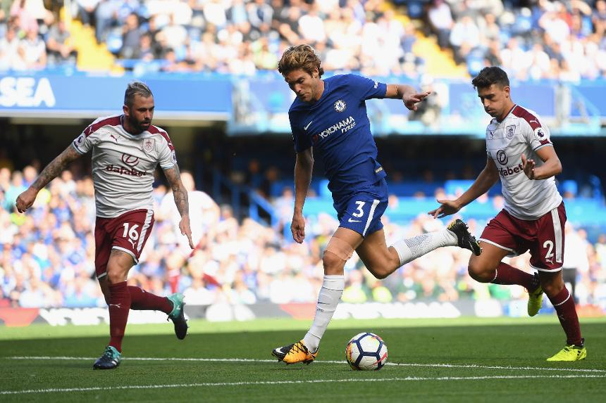 Chelsea in action against Burnley