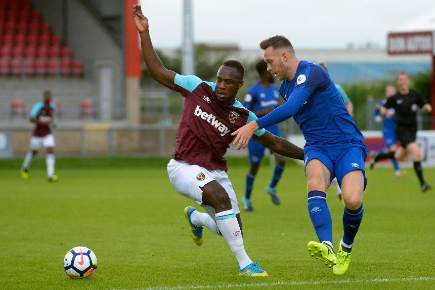 Michail Antonio in PL2 action for West Ham