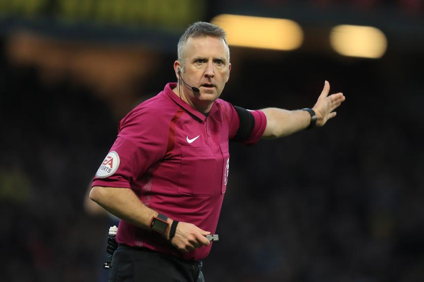 Premier League referee Jonathan Moss