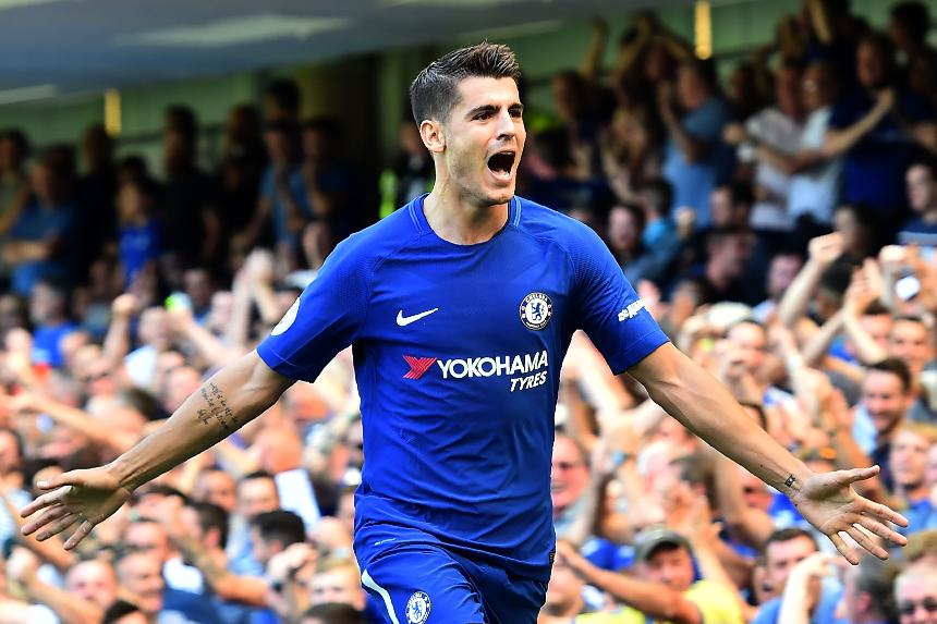 Image result for Alvaro Morata Chelsea 2017