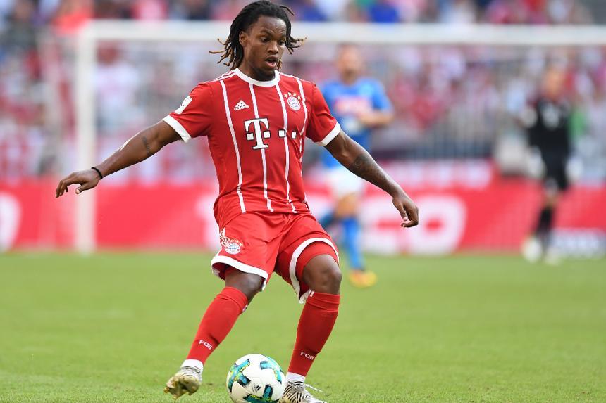 Renato Sanches in action for Bayern Munich