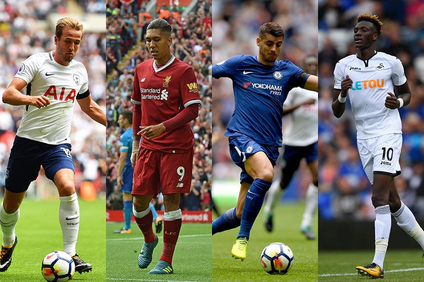 Image showing Harry Kane, Roberto Firmino, Alvaro Morata and Tammy Abraham