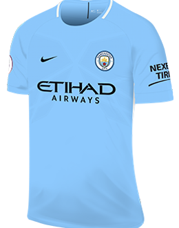 Man City home kit, 2017-18
