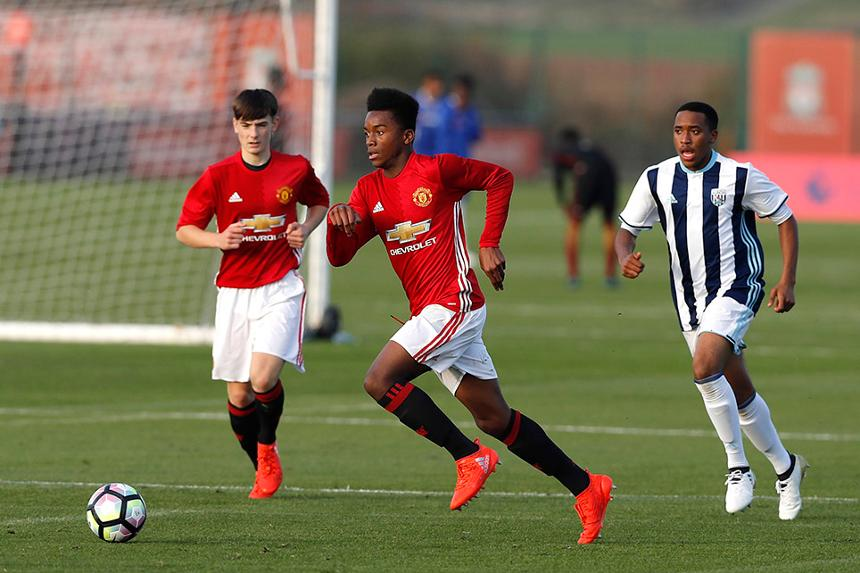 Man Utd v West Brom in an Under-16 match