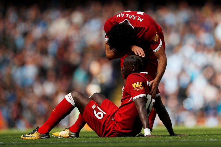 Sadio Mane and Mohamed Salah, Liverpool