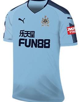 Newcastle away kit, 2017-18