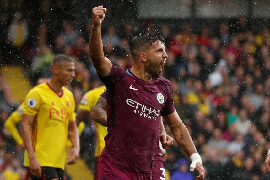 Watford vs Manchester City, Sergio Aguero