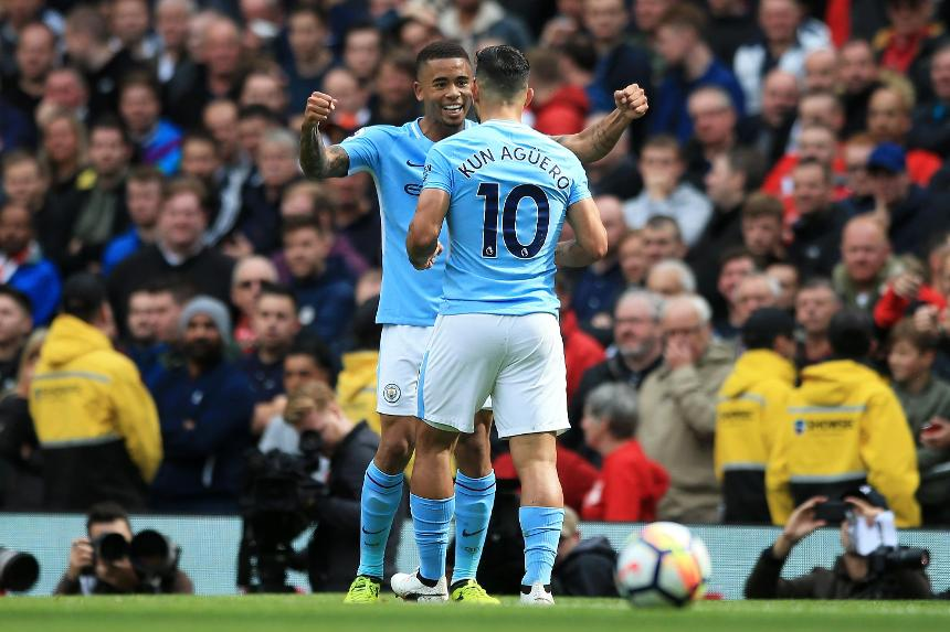 Gabriel Jesus and Sergio Aguero, Man City