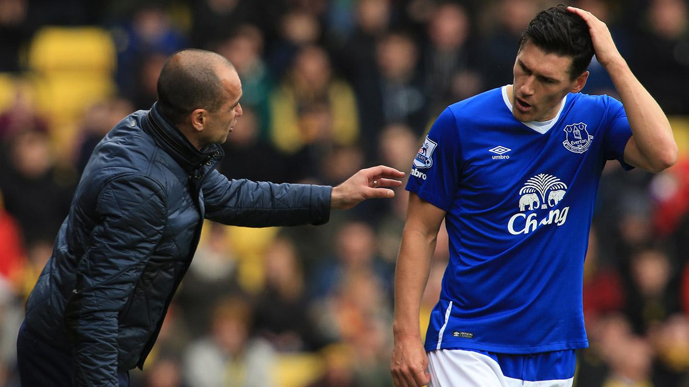 Roberto Martinez and Gareth Barry in their Everton days
