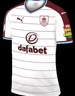 Burnley away kit, 2017-18