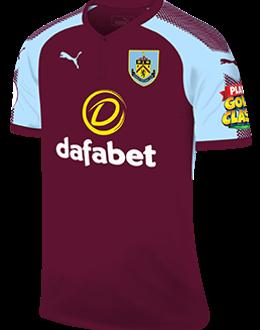 Burnley home kit, 2017-18