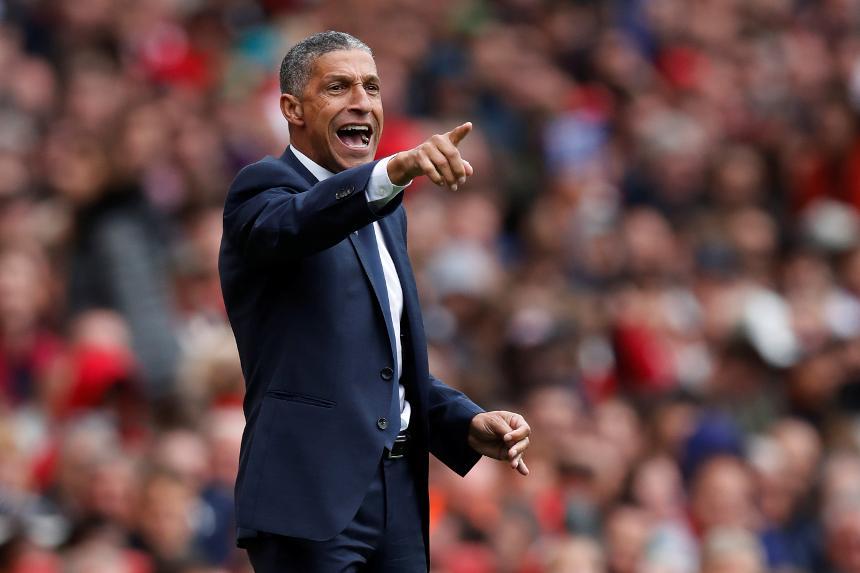 Chris Hughton - Arsenal v Brighton & Hove Albion
