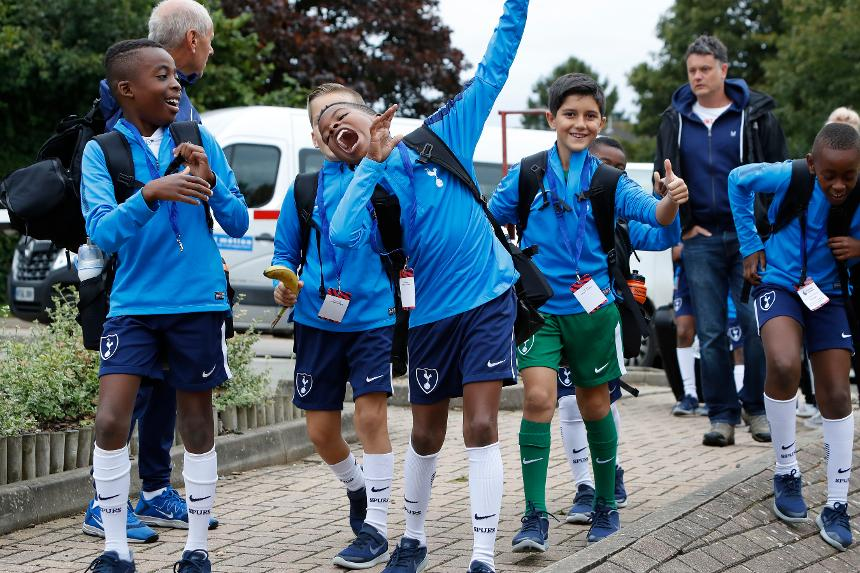 Spurs players at the Premier League U9 Welcome Festival