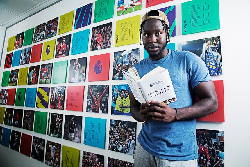 Caleb Femi, a judge on the Premier League Writing Stars competition