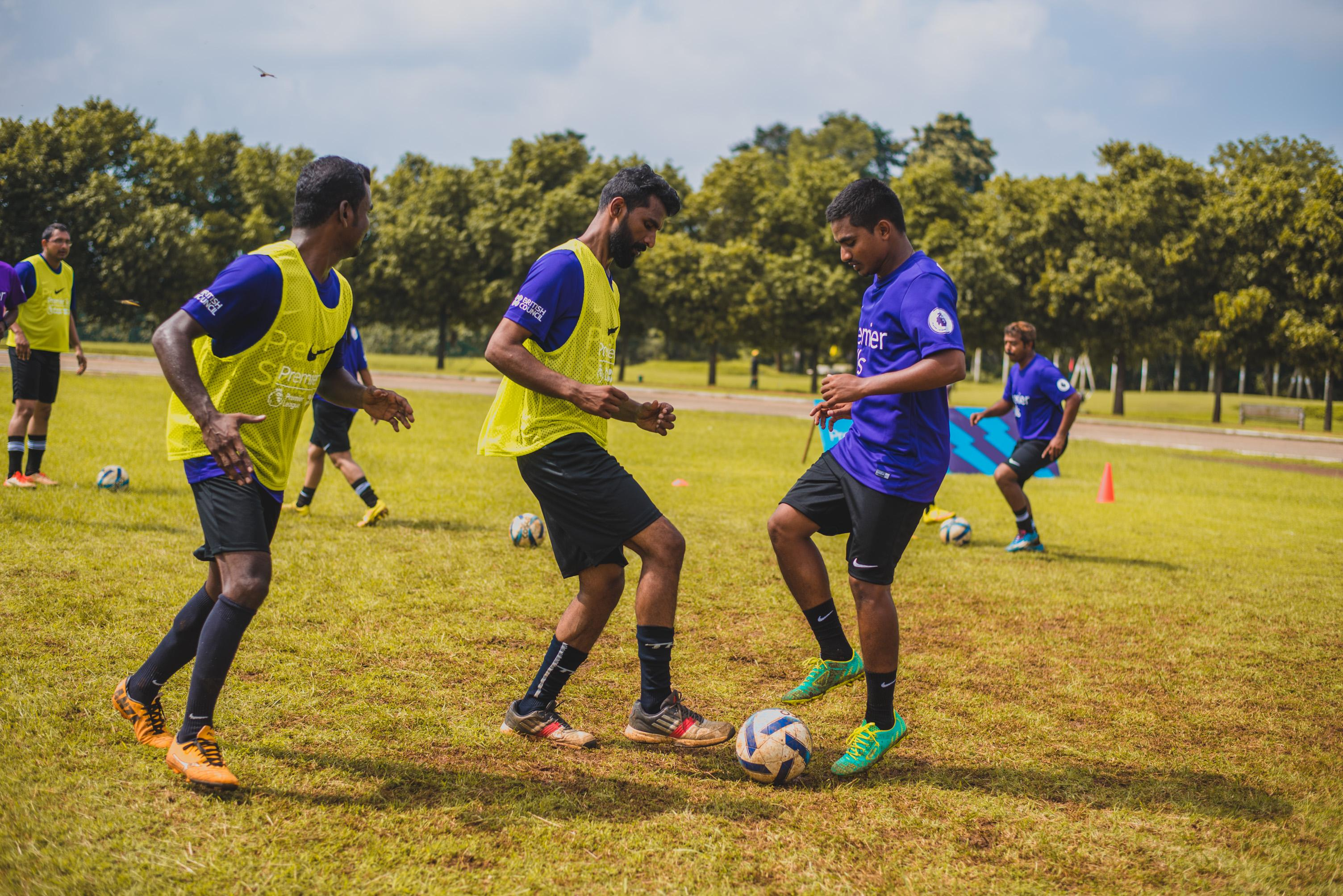 League's support for football development in India