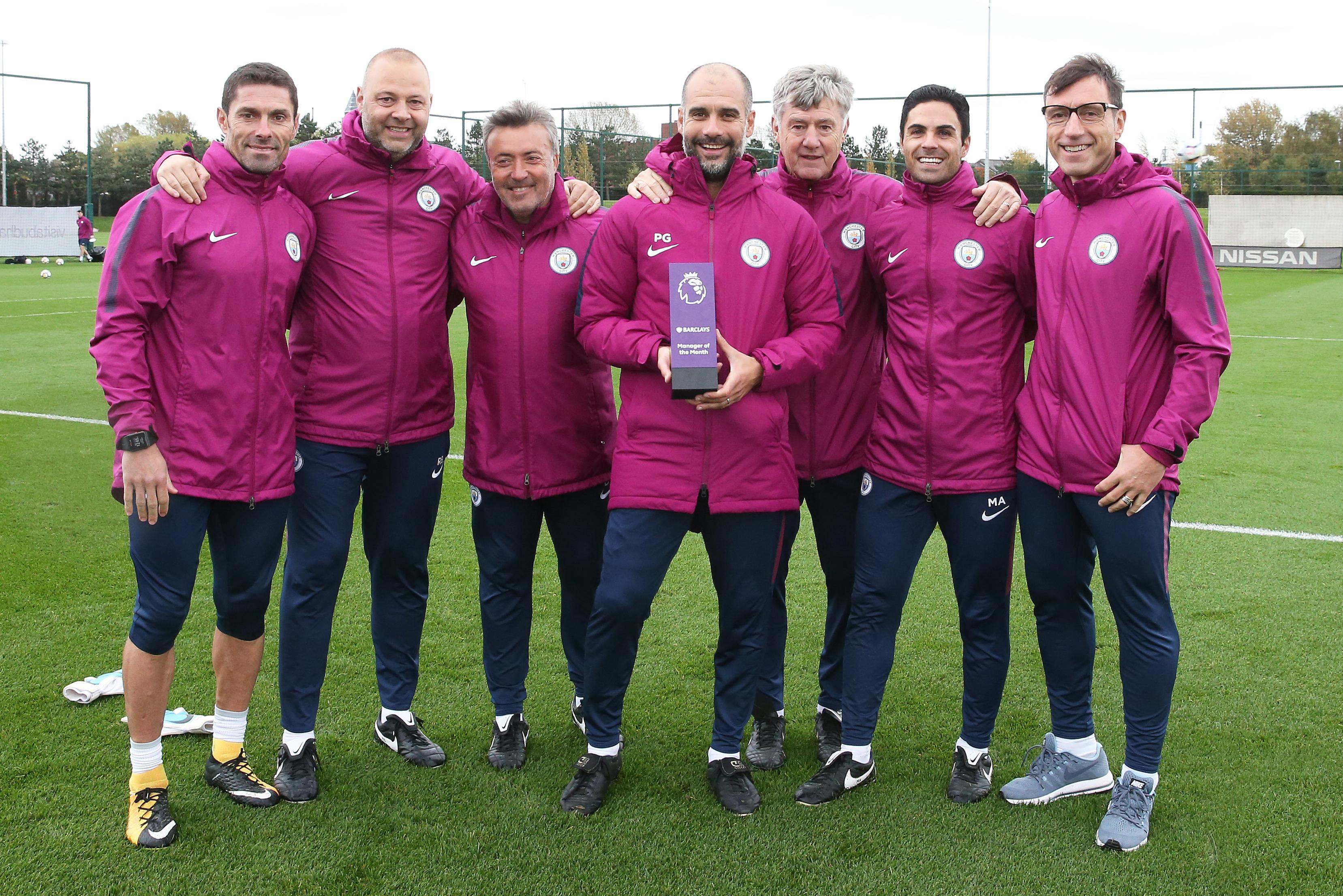 Guardiola is second in PL history to win Manager of the Month three times in a row