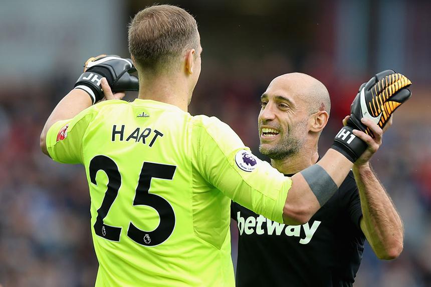 Joe Hart and Pablo Zabaleta, West Ham