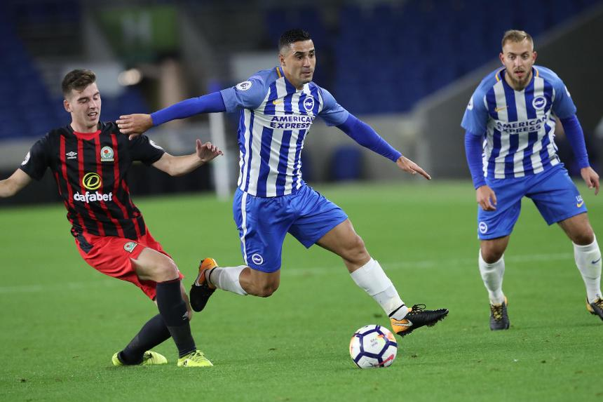 Action from Brighton v Blackburn in Premier League 2