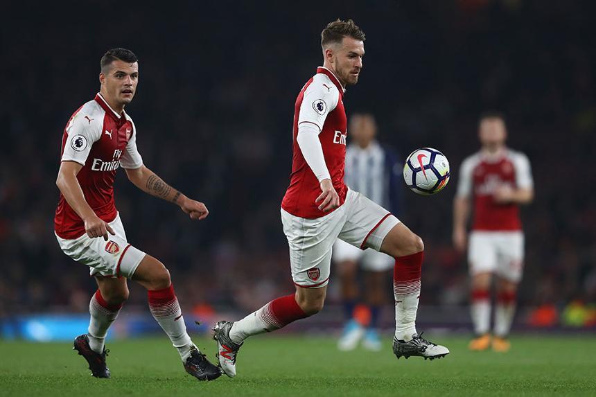 Aaron Ramsey and Granit Xhaka, Arsenal