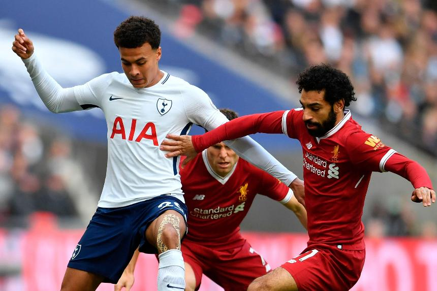 Dele Alli, Spurs, and Mohamed Salah, Liverpool