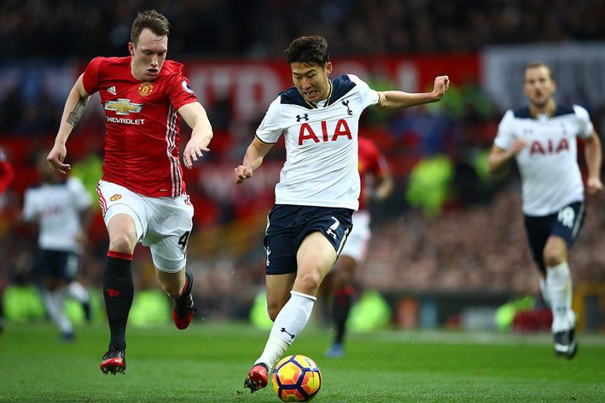 Phil Jones, Man Utd, and Heung-min Son, Spurs