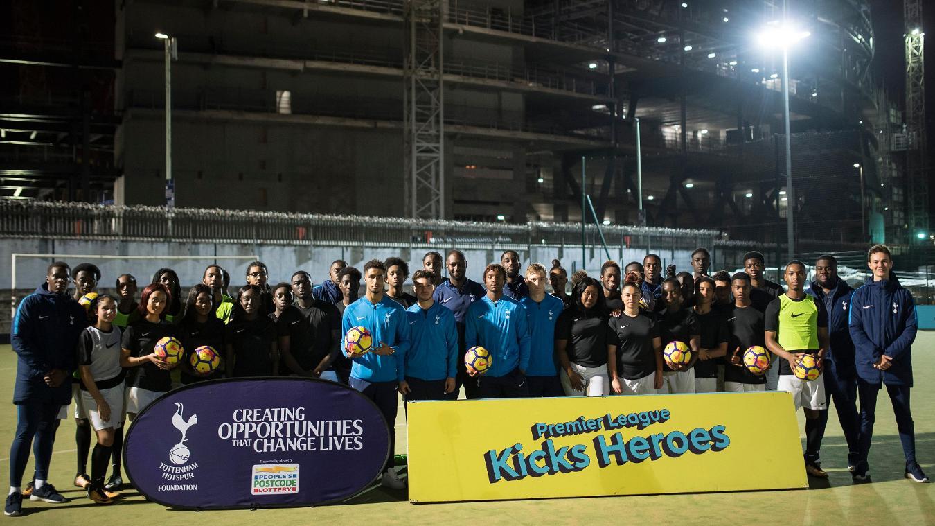 Spurs PL Kicks launch Nike Hi-Vis ball