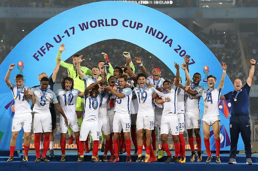 England celebrate winning Under-17 World Cup