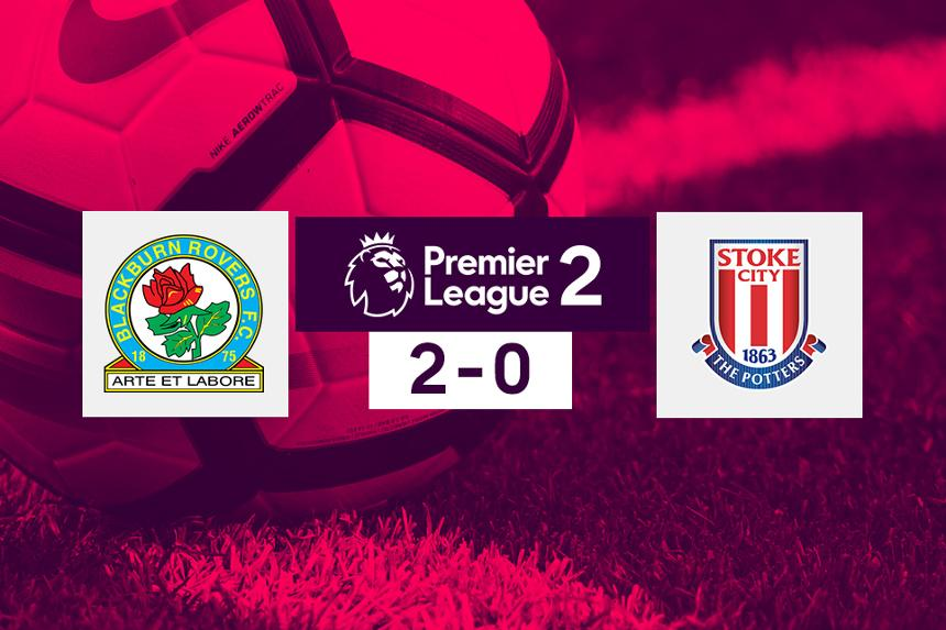 Score graphic for Blackburn 2-0 Stoke City in Premier League 2