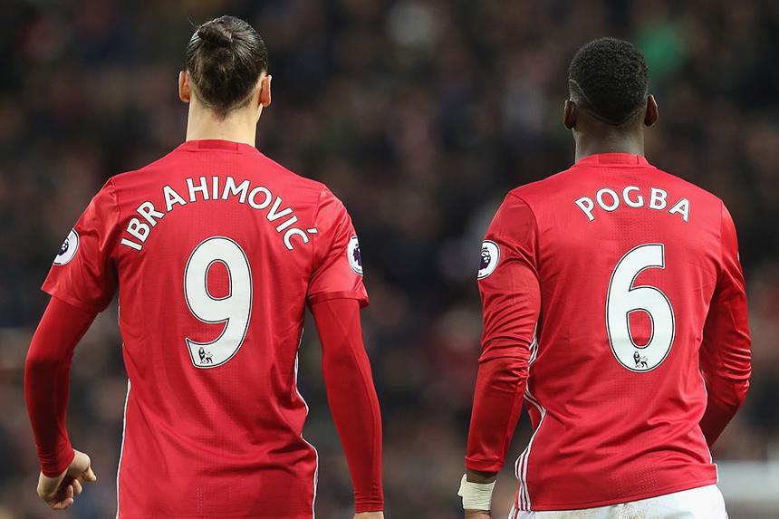 Zlatan Ibrahimovic and Paul Pogba, Manchester United