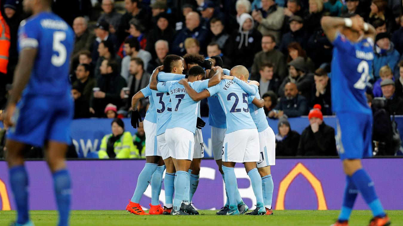 Leicester City 0-2 Manchester City Highlights
