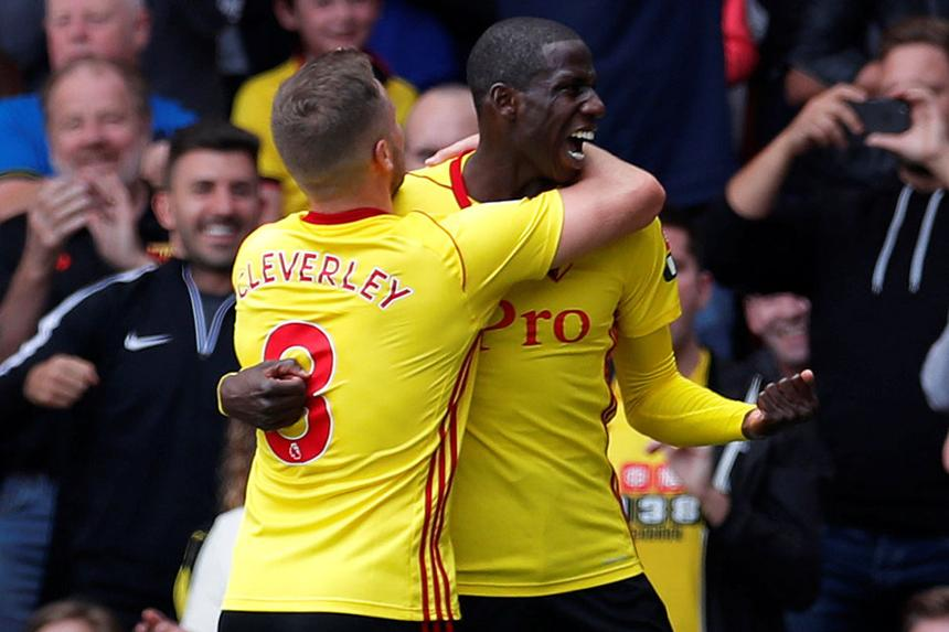 Tom Cleverley and Abdoulye Doucoure, Watford