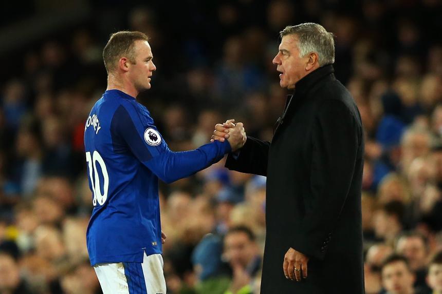 Everton v Huddersfield Town - Wayne Rooney and Sam Allardyce