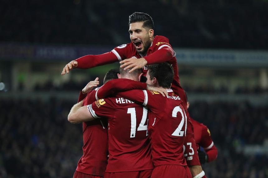 Brighton & Hove Albion v Liverpool